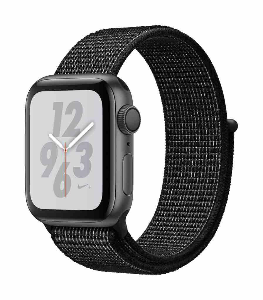 Apple Watch Nike+ Series 4 GPS, 40mm Space Grey Aluminium Case με Black Nike Sport Loop